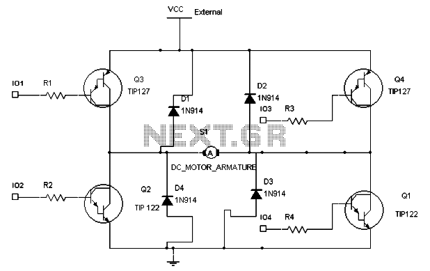 motor control circuit page 10 automation circuits next grthe h bridge circuit control design in dc motor application