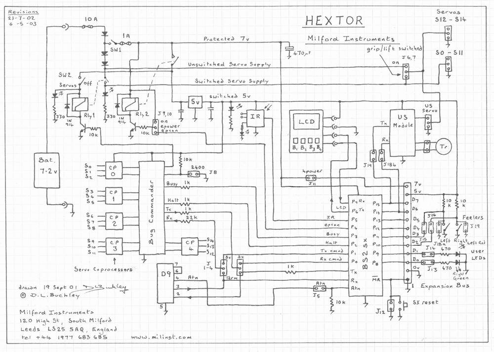 robotic circuit page 4 automation circuits next grhextor hexapod robot circuit multiprogs