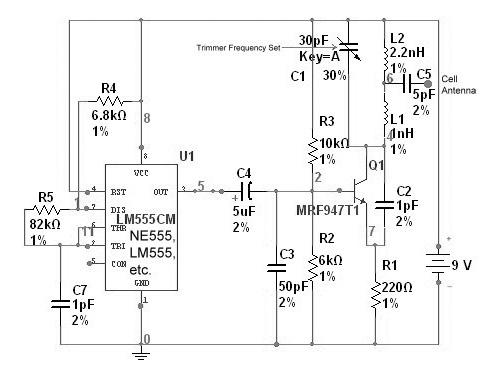 Simple Cell Phone Jammer - schematic