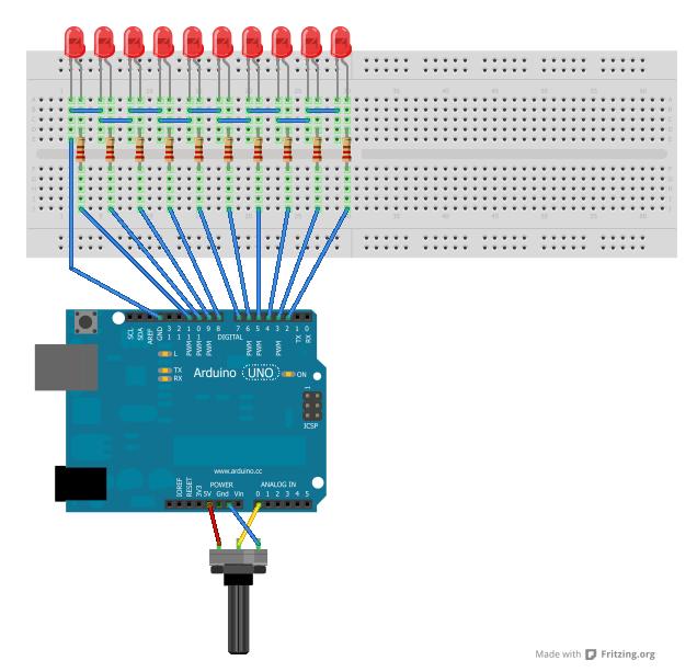 The Cylonduino Arduino Experiement - schematic