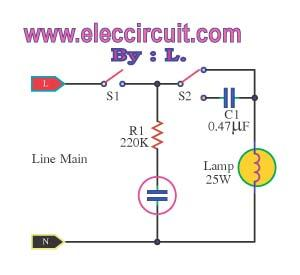 Automatic light dimmer circuit - schematic