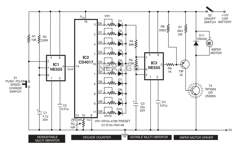 Wiper Speed controller. - schematic