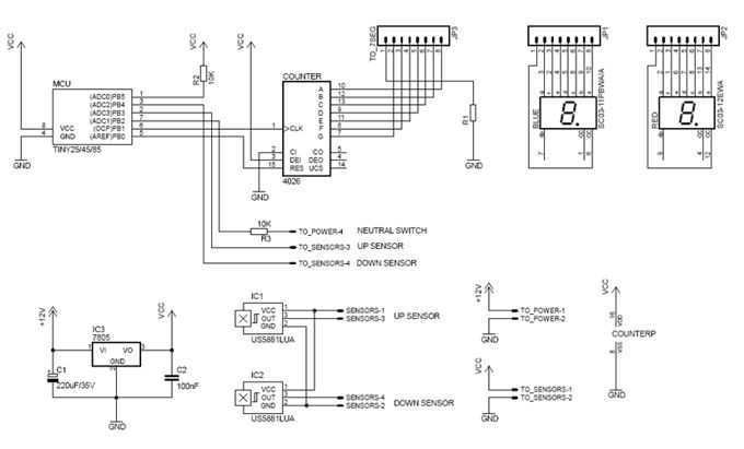 Motorcycle electronic Gear Indicator - schematic