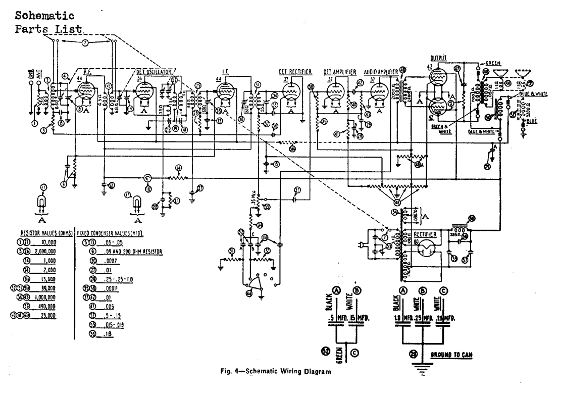 Receiver Circuit Page 4 Rf Circuits Wiring Diagram Volume Control Police And Airplane Reception Tube Reciever