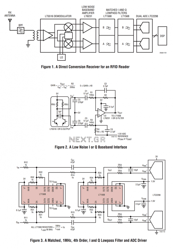 Baseband Circuits for an RFID Receiver - schematic