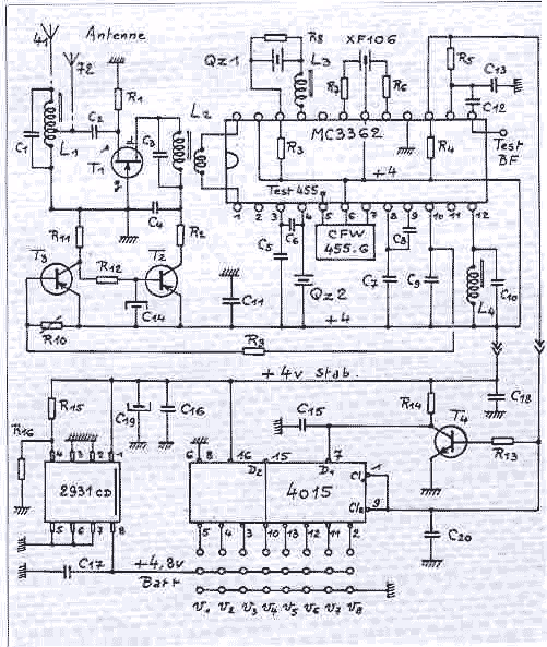 HF reciever with MC3362 - schematic
