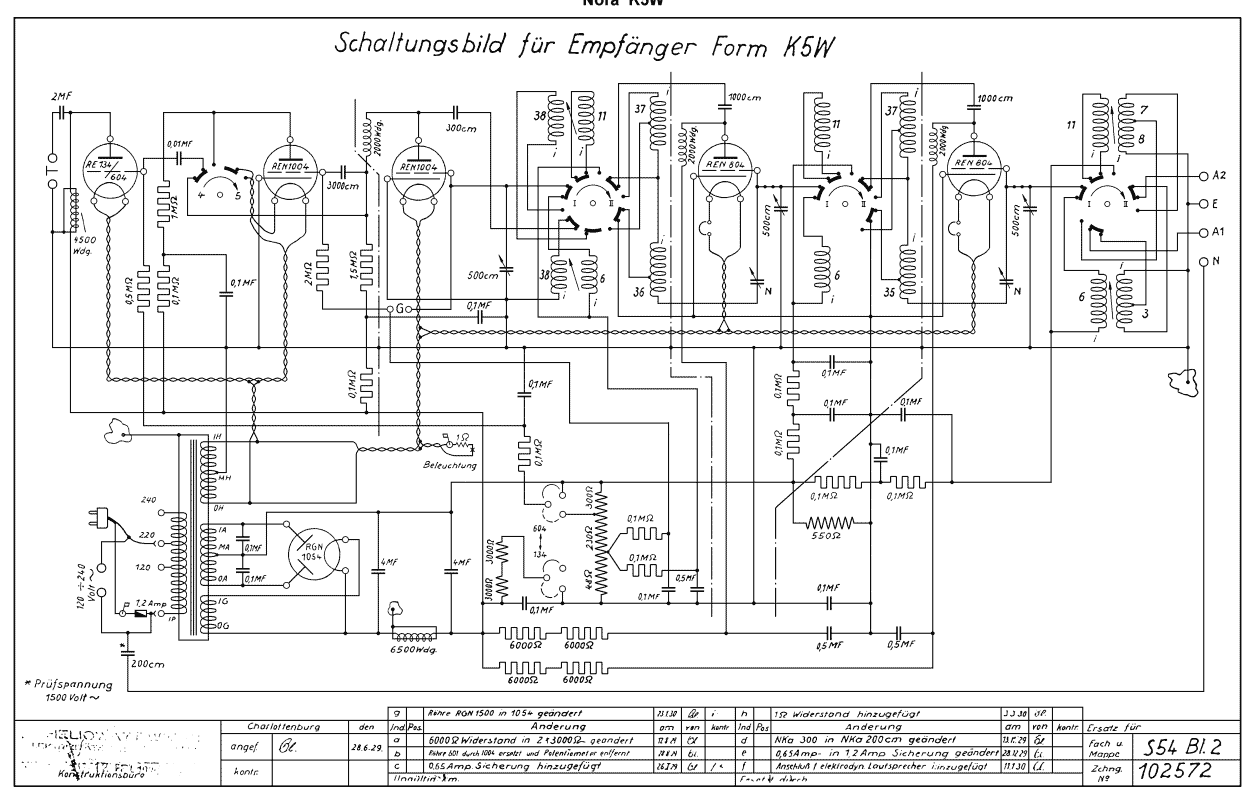 Old German radio with Tubes - schematic