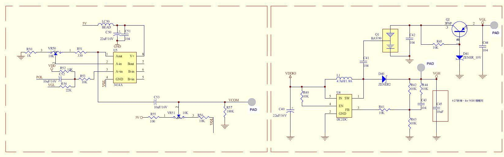 LED Drivers/LCD Bias - schematic