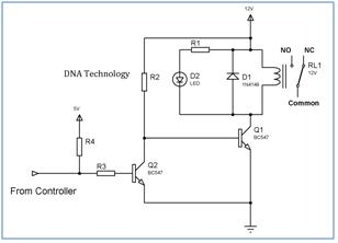 relay driver - schematic