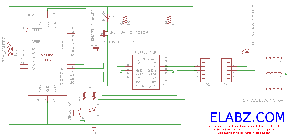 Wiring Diagram Bldc Motor : Gt circuits brushless dc motor with arduino l next gr