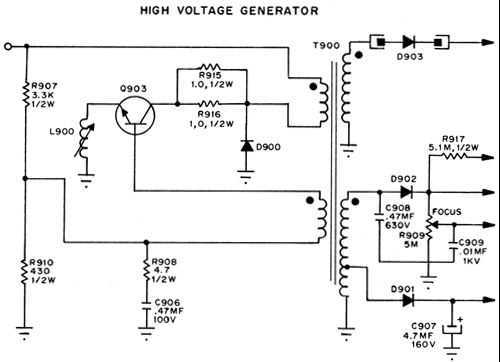 High Voltafe Generator - schematic