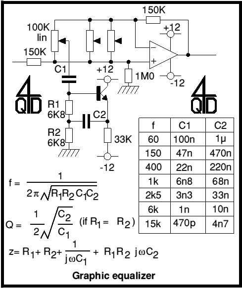 Audio Graphic Equaliser - schematic