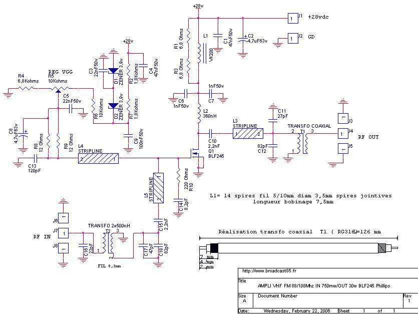 30 watt fm linear amplifier with mosfet blf245 under rf amplifier