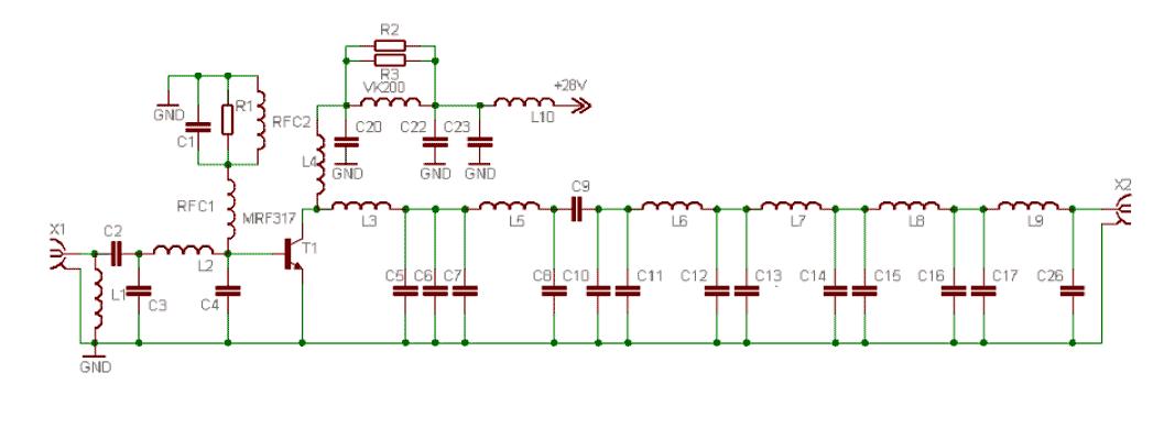 100W FM Linear Amplifier - schematic