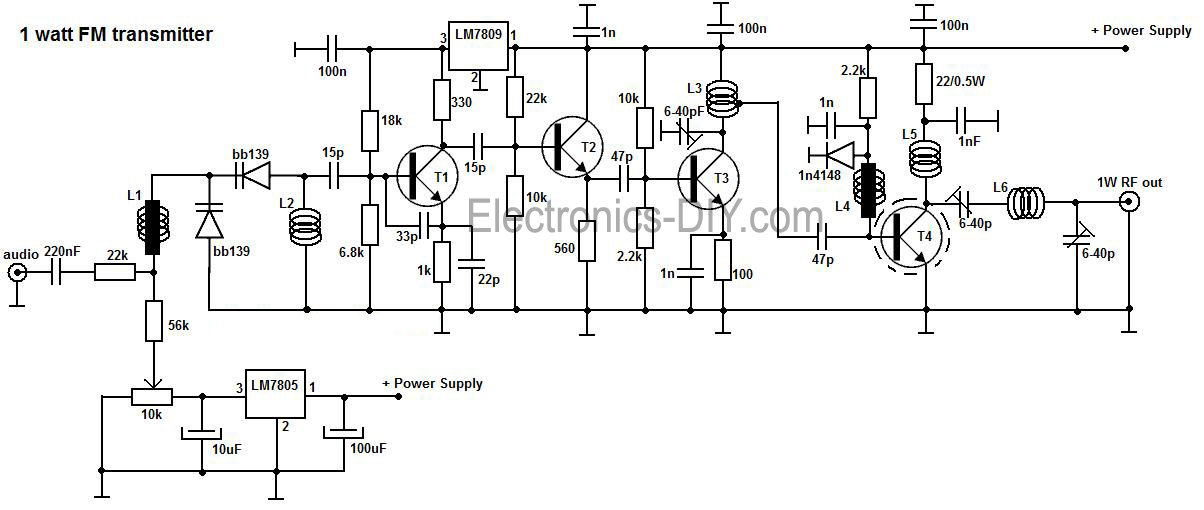 fm transmitter circuit page 7   rf circuits    next gr