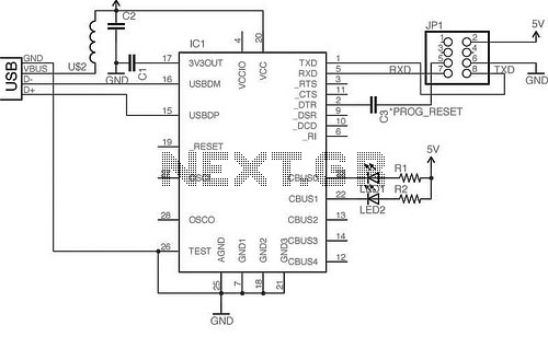 microcontroller programmer circuit page 3