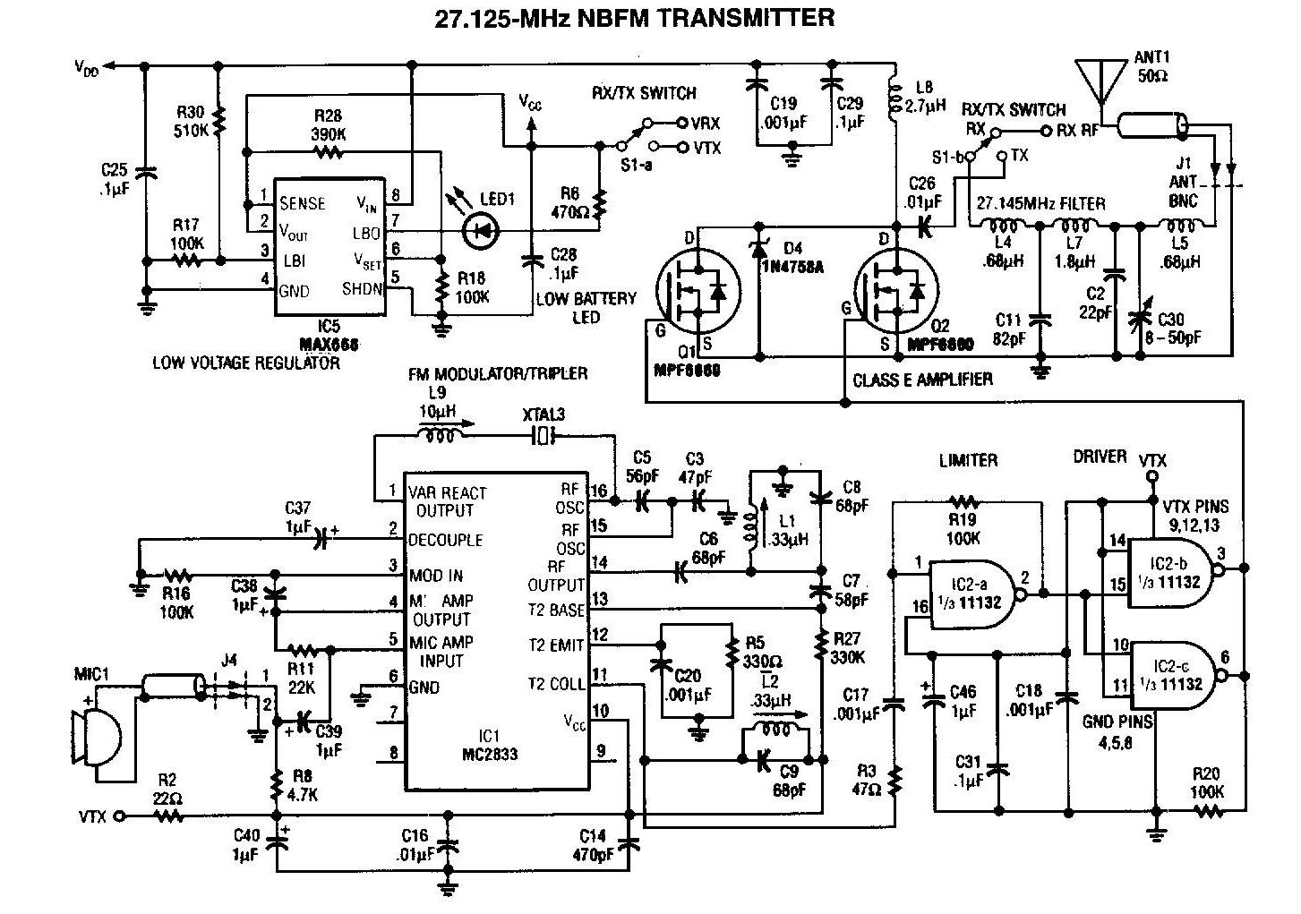 nbfm 27mhz transmitter circuit under repository