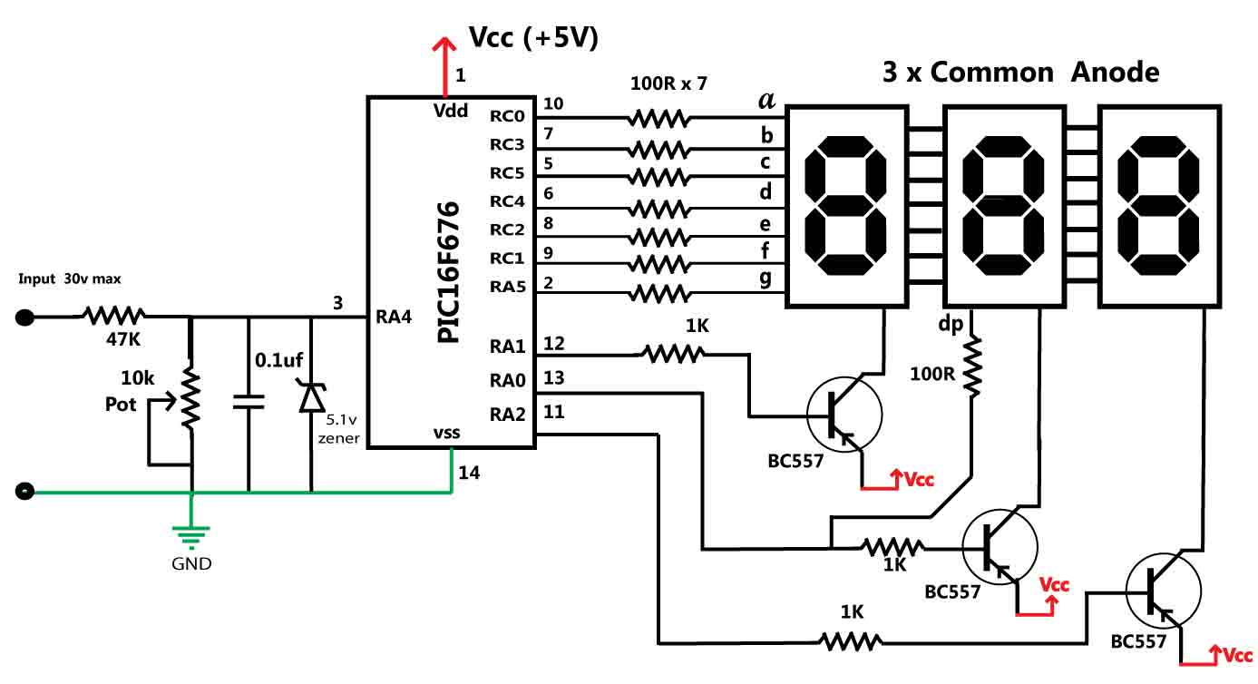 Anode 7 Segment Circuit Guide And Troubleshooting Of Wiring Diagram Counter Images Gallery