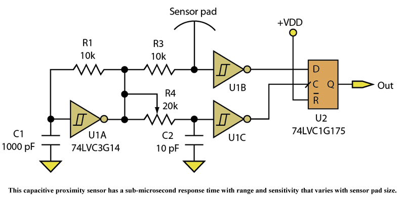 Capacitive Proximity Sensor Provides Accuracy And Speed - schematic