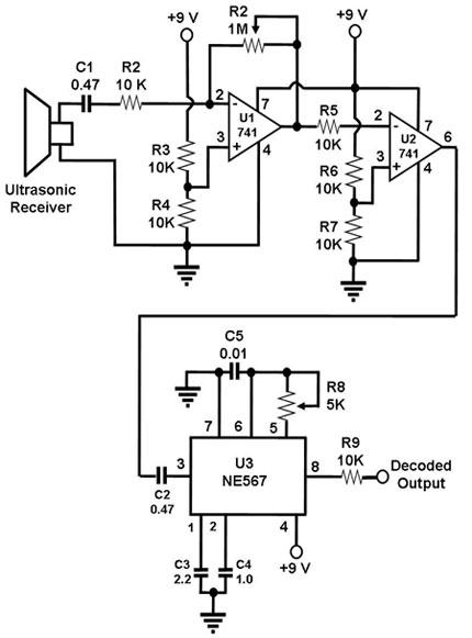 ultrasonic receiver circuit under repository-circuits