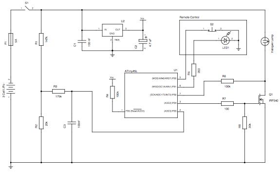 Avr Light Controller - schematic