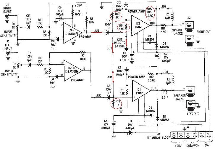 u0026gt  circuits  u0026gt  lm12 audio amplifier circuit diagram l25291