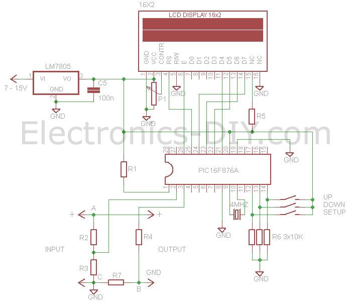 Voltmeter Ammeter - schematic