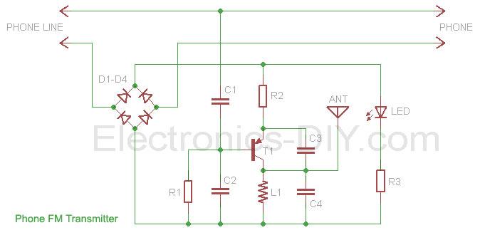 Phone FM Transmitter - schematic