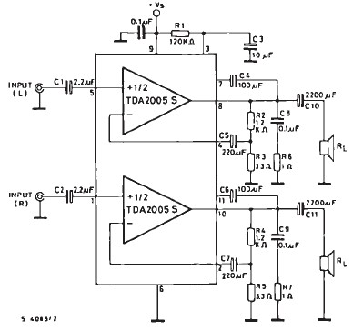 tda2005 car audio amplifier circuit diagram project