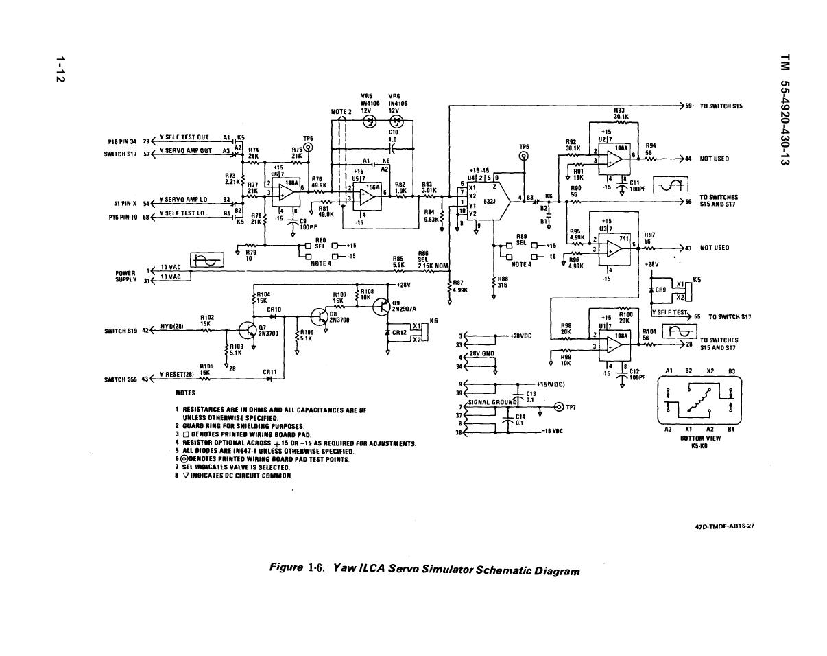 Yaw ILCA Servo Simulator Schematic Diagram - schematic