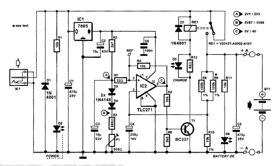 Automatic Battery Charger - schematic