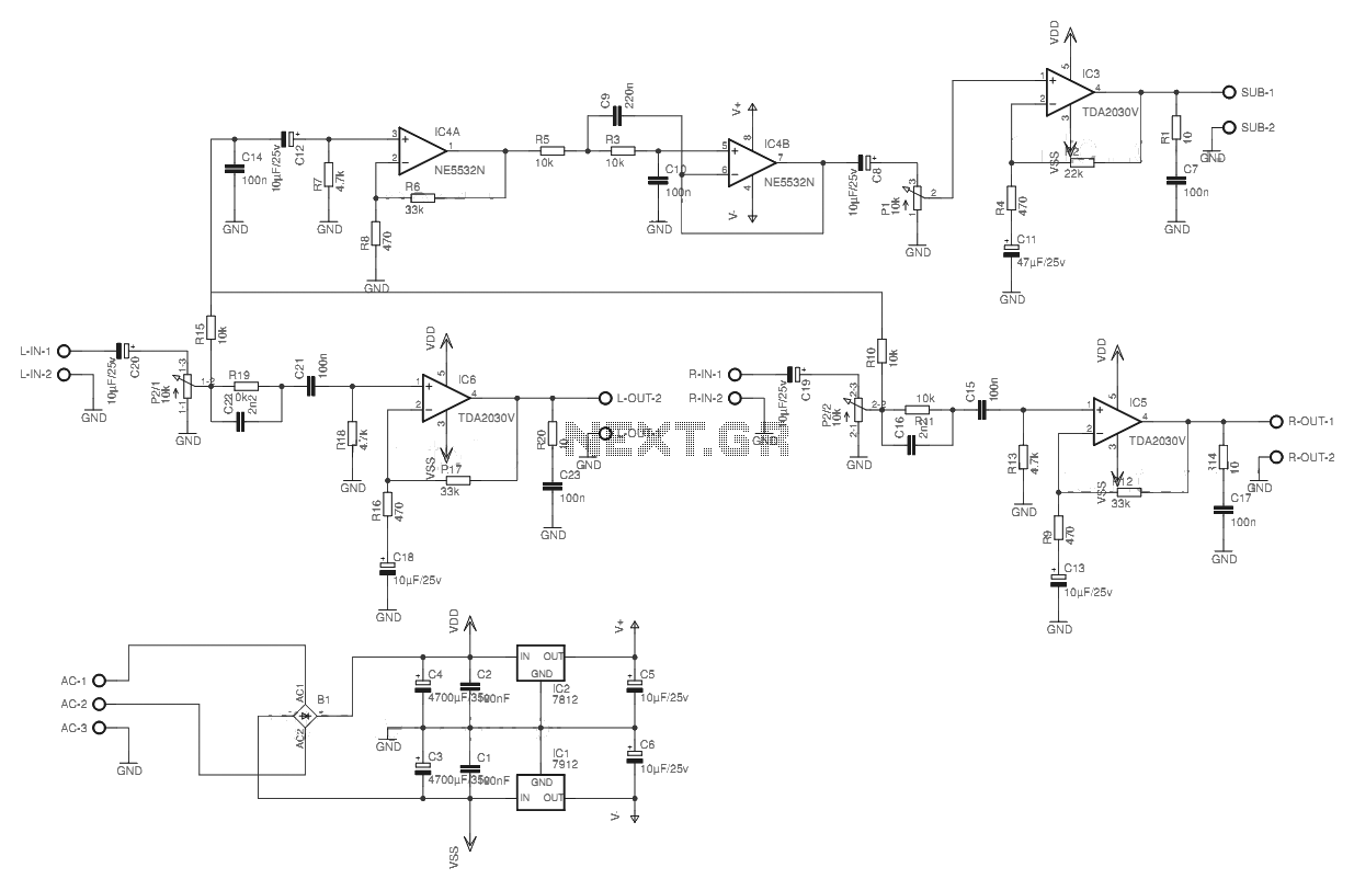Car Audio Amplifier Circuit Electro Schematics .