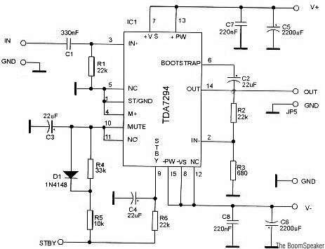 TDA7294 Audio Amplifier Circuits - schematic