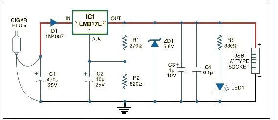 usb car charger adapter circuit schematic battery charger circuit page 6 power supply circuits next gr usb car charger wiring diagram at gsmportal.co