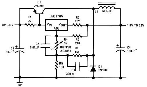 circuits > lm317 variable power supply circuit project l25313 ...