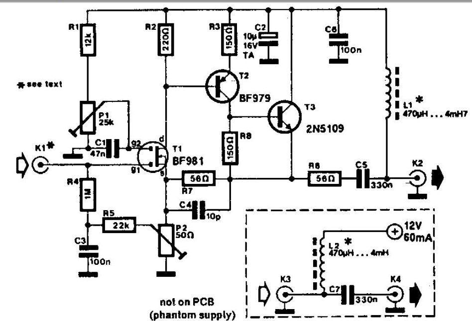 Tv Antenna Amplifier Schematic - Schematics Wiring Diagrams •