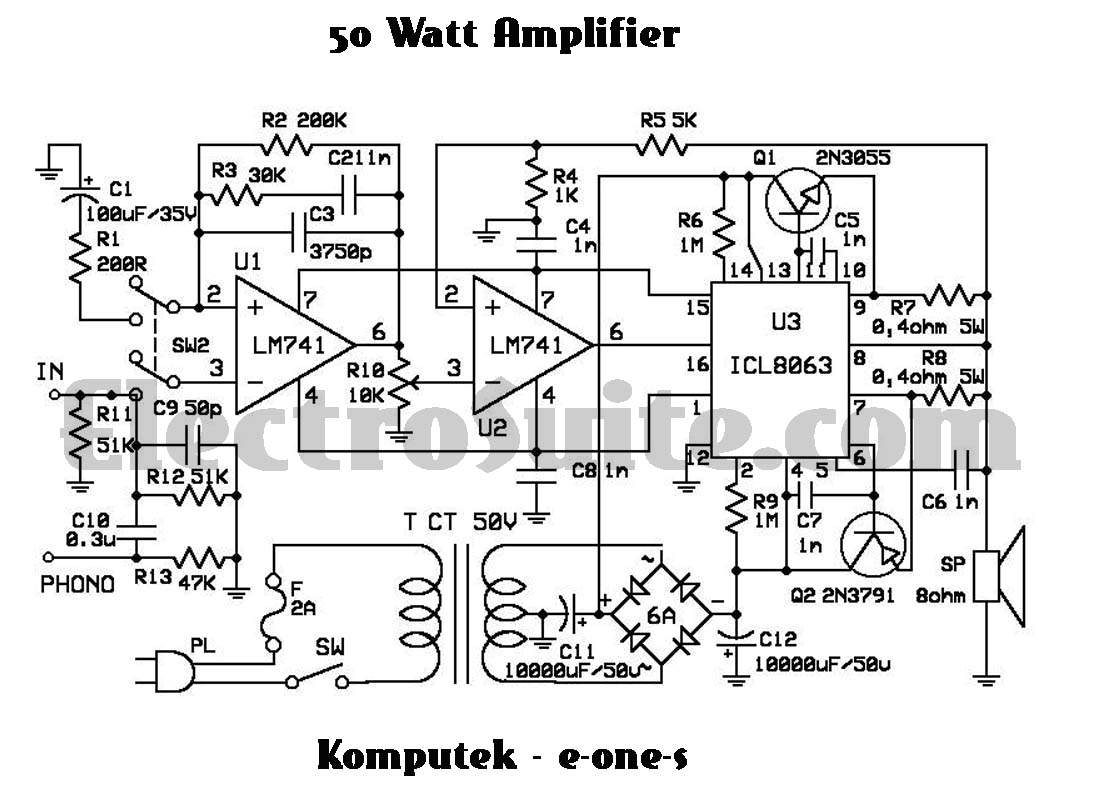 u0026gt  circuits  u0026gt  50w amplifier using icl8063 l26500