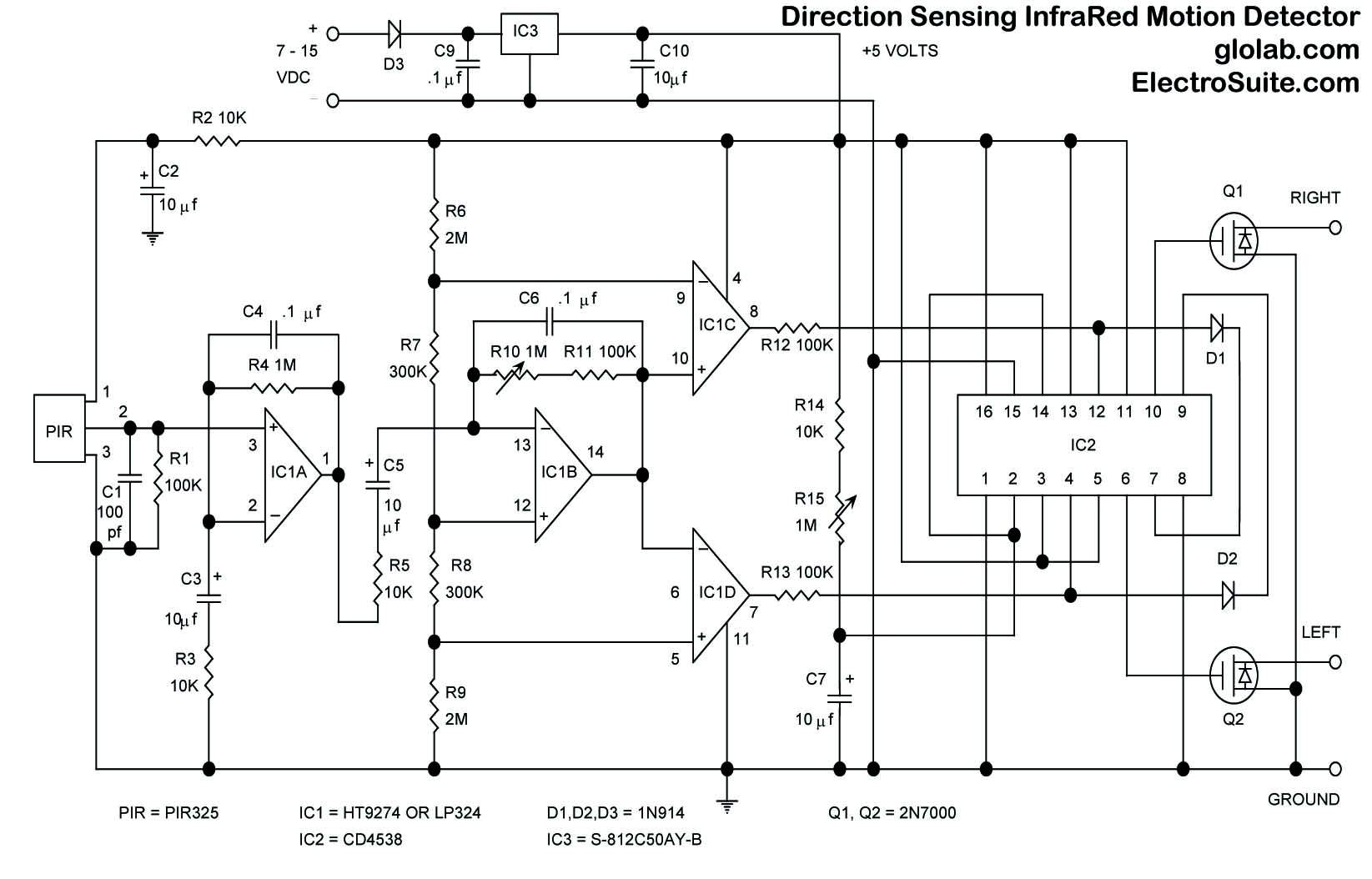 Schematic Motion Detector With Flood Light Block Wiring Diagram 1986 Ford Cl9000 Cl 9000 Big Trucks Diagrams Schematics Brinks Sensor Circuit And Led Lights Outdoor Problem