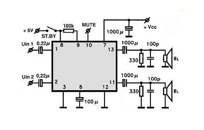 Schematic Circuit Ic Stk