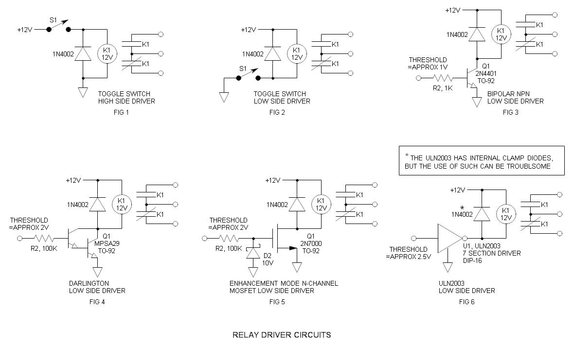 Relay Circuit Page 8 Automation Circuits Audio Amplifier Projects To Control The Speaker Output Driver