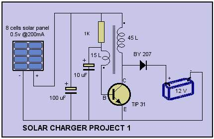 Solar Cell Charger Schematic - schematic
