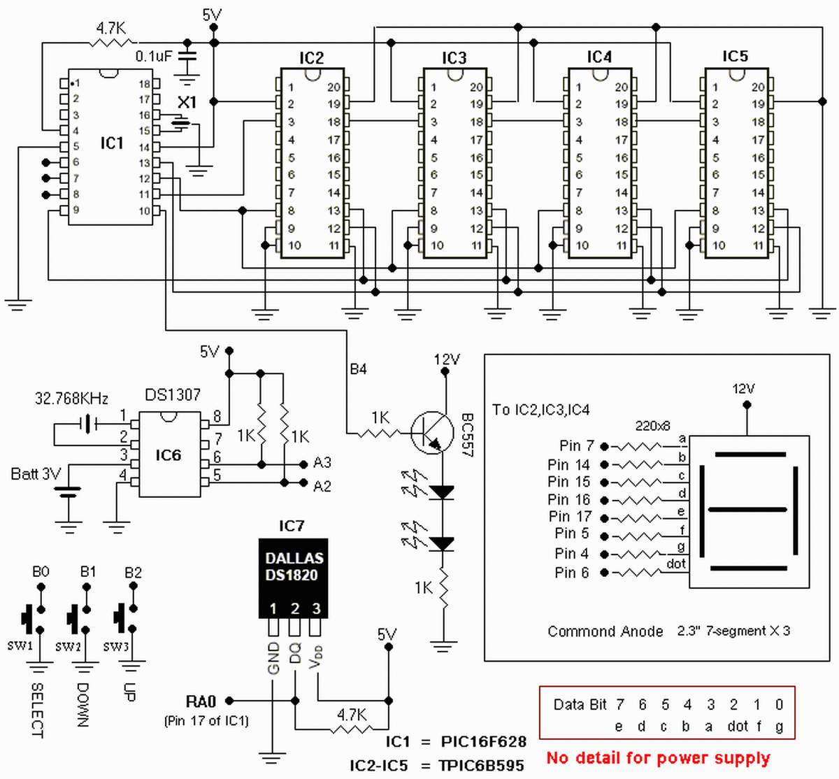 Clock circuit circuit - schematic