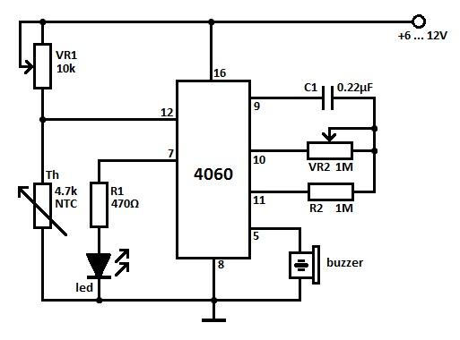 Heat Sensor Circuit - schematic
