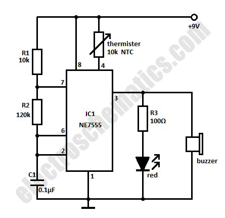 Rangkaian Buzzer Elektronik Sederhana likewise Summary of the blind spot monitor 117 together with Rain Alarm Circuit Diagram additionally Store also AlarmProbs. on wiring diagram for indicator buzzer