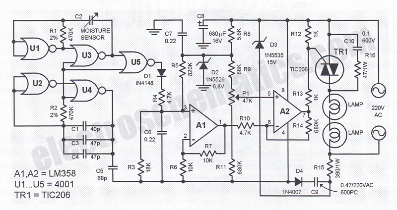 Humidity Control Switch Circuit - schematic