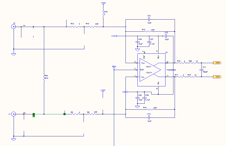 Creating Buffer front end circuit to read AD744 - schematic