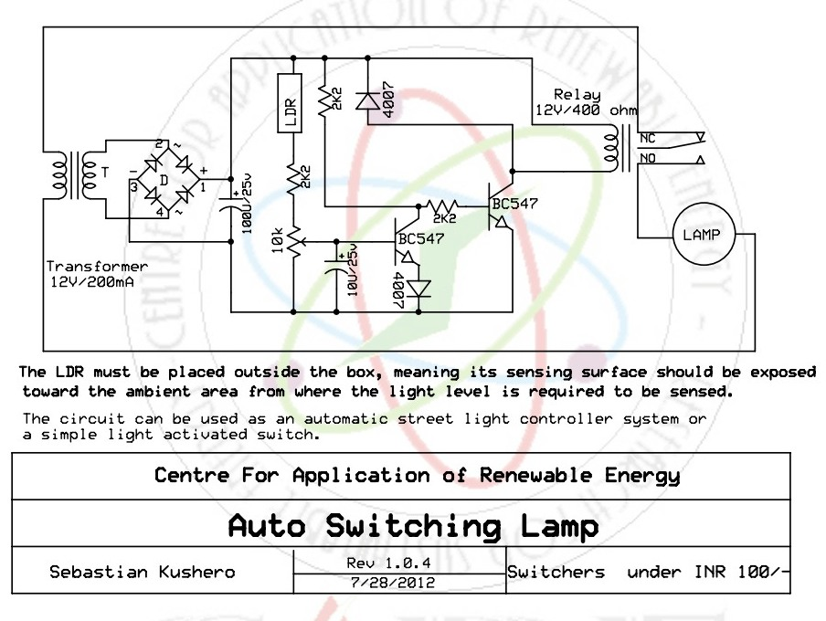 Excellent Light Sensitive Switch Circuit Gallery - Electrical and ...