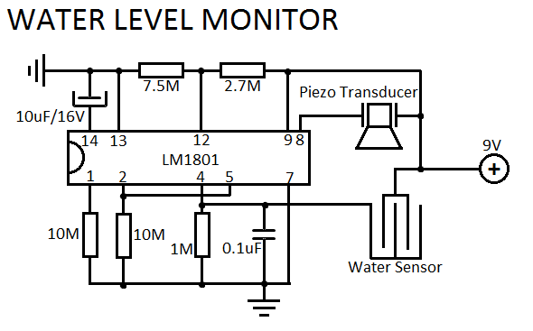 Water Level Sensor Circuit Under Repository Circuits