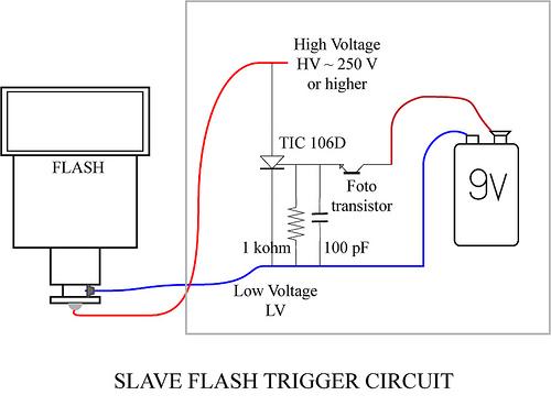 Slave Flash Trigger Circuit Schematic - schematic