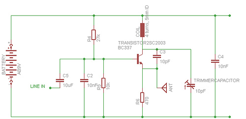 Niftymitter electronic schematics and parts list